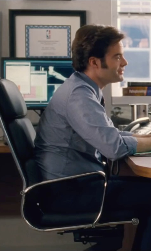 Bill Hader with Fine Mod Imports Soft Conference Office Chair High Back, Black in Trainwreck