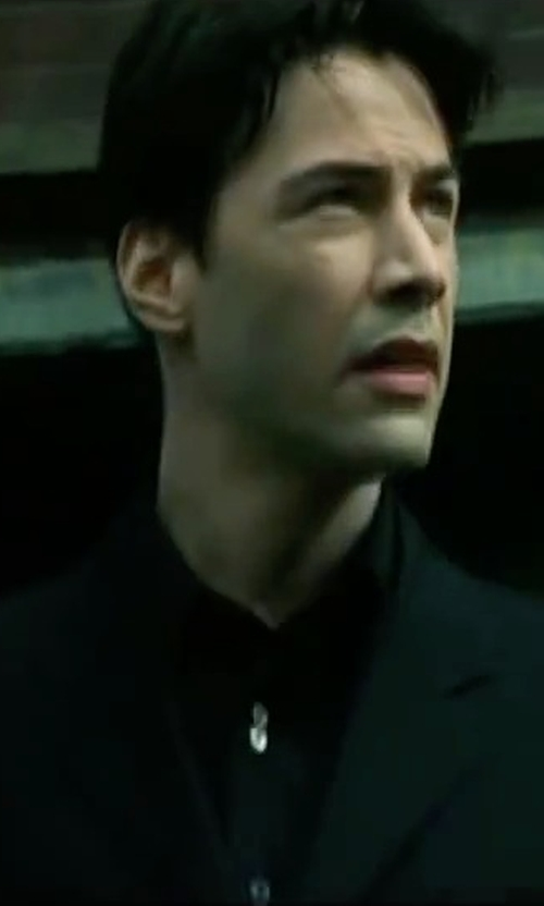 Keanu Reeves with Calibrate Trim Fit Dress Shirt in The Matrix