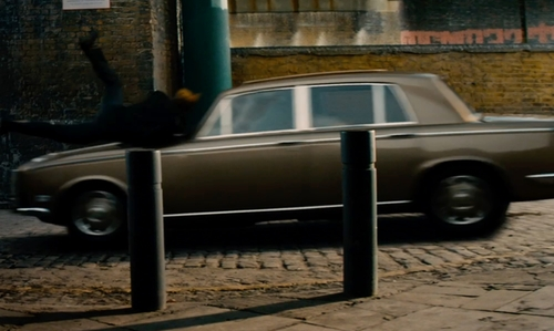 Johnny Depp with Rolls Royce 1969 Silver Shadow Sedan in Mortdecai