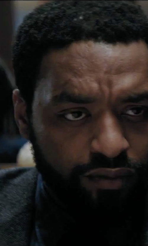 Chiwetel Ejiofor with Surface To Air Plaid Flannel Shirt in Secret in Their Eyes