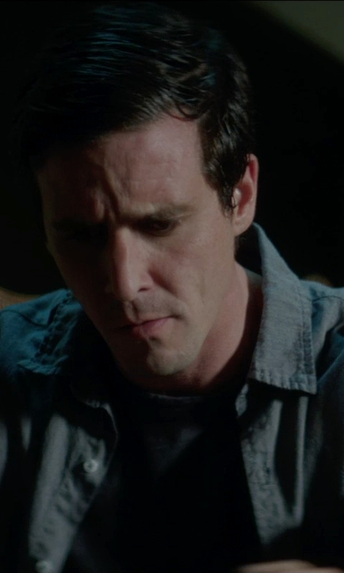James Ransone with Steven Alan Classic Collegiate Shirt in Sinister 2