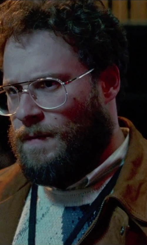Seth Rogen with Cutler And Gross Palladium-Plated Aviator Optical Glasses in Steve Jobs