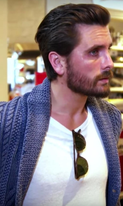 Scott Disick with Splendid Mills Pigment Dyed Crew Neck Tee in Keeping Up With The Kardashians