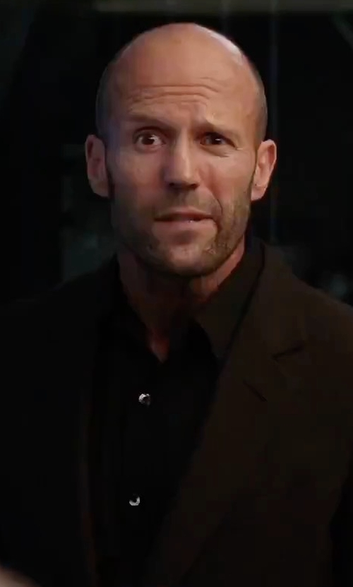 Jason Statham with Ermenegildo Zegna Wool Two-Button Blazer in The Fate of the Furious