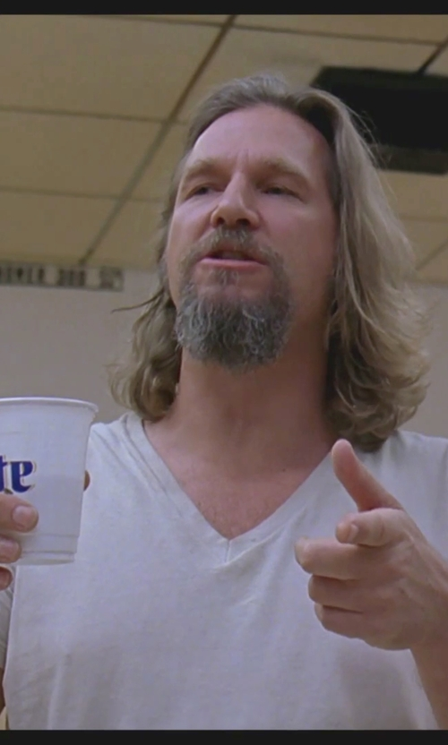 Jeff Bridges with Burberry Technical Modal Blended T-Shirt in The Big Lebowski
