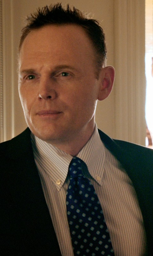 Bill Burr with Charvet Venn Circle Silk Tie in Black or White