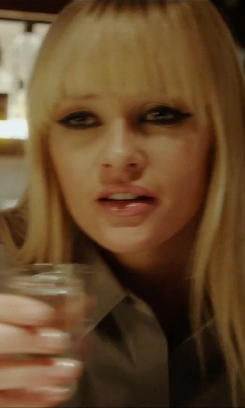 Ambyr Childers with Moser Whiskey Shot Glass in Vice