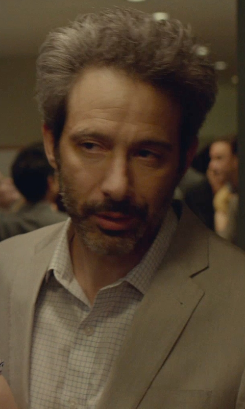 Adam Horovitz with Gold Label Roundtree & Yorke Fitted Point-Collar Dress Shirt in While We're Young