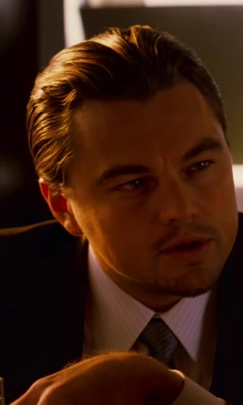 Leonardo DiCaprio with Jeffrey Kurland (Costume Designer) and Dennis Kim (Tailor) Custom Made Black Suit in Inception