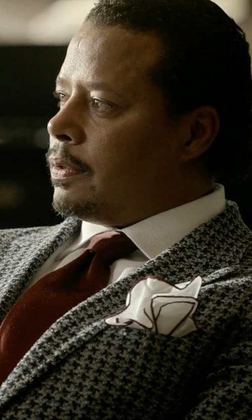 Terrence Howard  with Canali Checked Wool Blazer in Empire