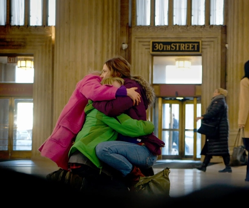 Kathryn Hahn with 30th Street Station Philadelphia, Pennsylvania in The Visit