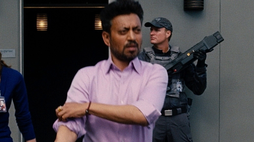 Irrfan Khan with Gucci Woven Leather Bracelet with Gucci Crest in Jurassic World