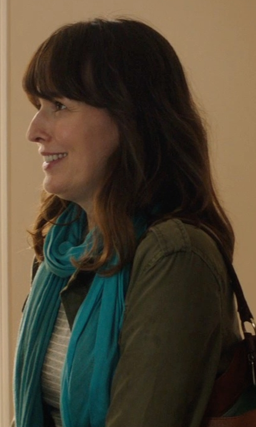 Rosemarie DeWitt with Magaschoni Texture Scarf in Poltergeist