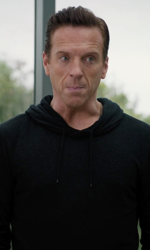 Damian Lewis with Vince Slub Pullover Hoodie in Billions