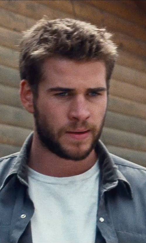 Liam Hemsworth with Public School Deconstructed T-Shirt in Cut Bank
