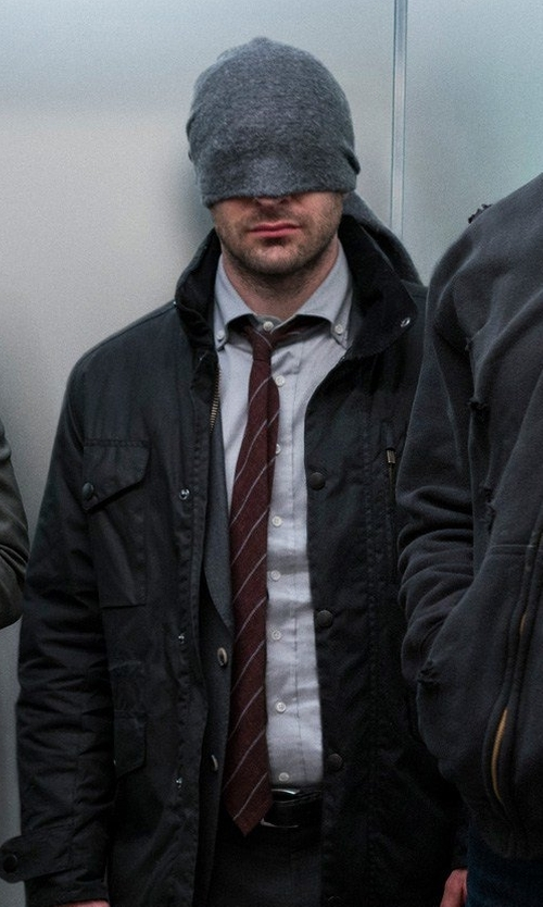 Charlie Cox with Shinola Essex Double Stitch Leather Belt in Marvel's The Defenders