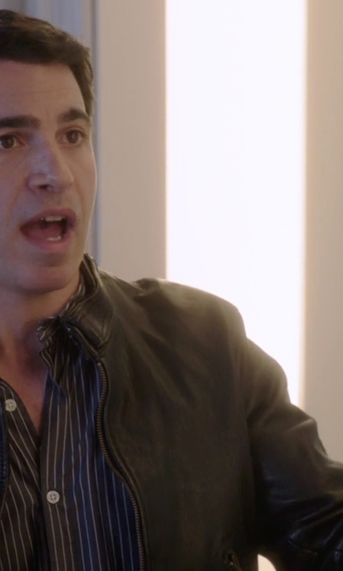 Chris Messina with Marc New York Zip-Front Leather Jacket in The Mindy Project