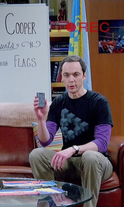 Jim Parsons with CCCP Shchuka Analog Display Swiss Quartz Watch in The Big Bang Theory