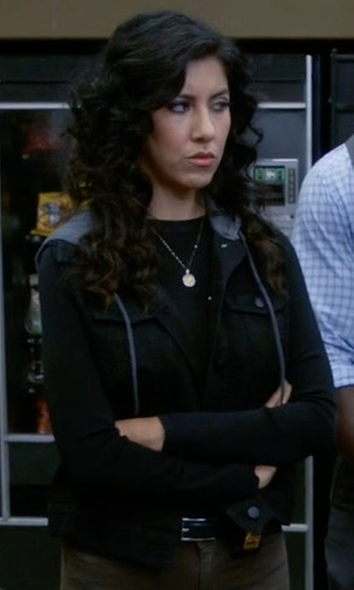 Stephanie Beatriz with Levi's Pocket Hooded Anorak Jacket in Brooklyn Nine-Nine