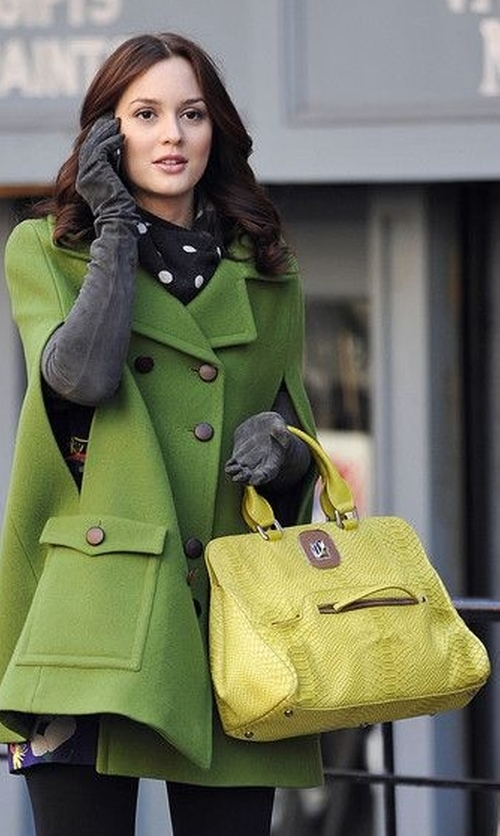 Leighton Meester with Longchamp Gatsby Bag in Gossip Girl