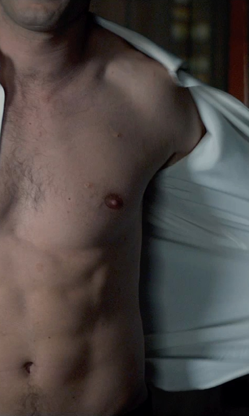 Jamie Dornan with Anto Beverly Hills Custom Made White Dress Shirt in Fifty Shades of Grey