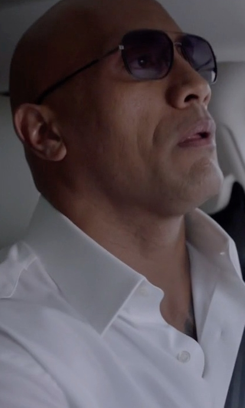 Dwayne Johnson with Dolce & Gabbana Long-Sleeve Woven Dress Shirt in Ballers