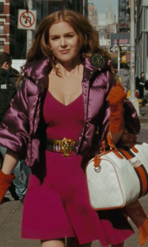 Isla Fisher with Zac Posen Pink Short Dress in Confessions of a Shopaholic