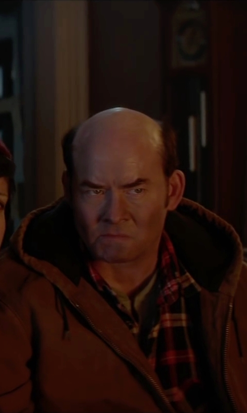 David Koechner with Sherpa Weatherproof Fleece Hoodie in Krampus