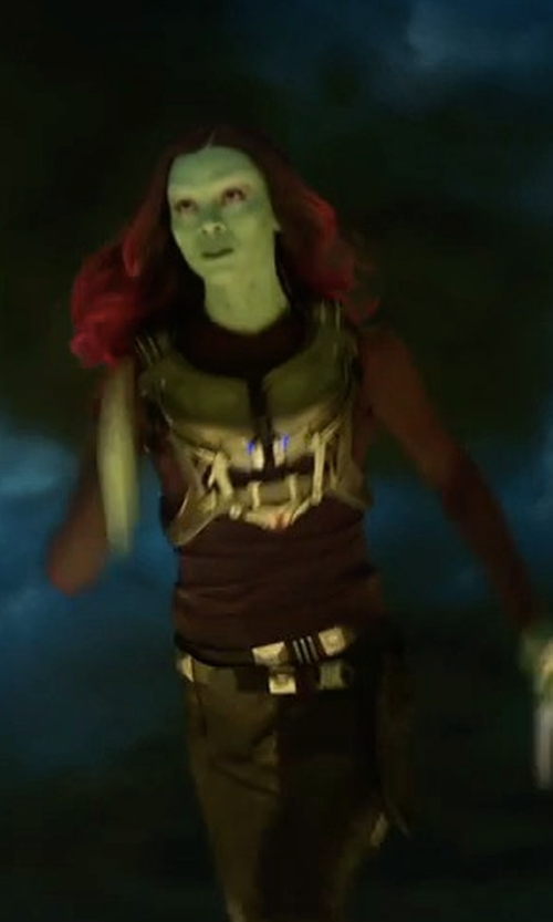 Zoe Saldana with Alexandra Byrne (Costume Designer) Custom Made Gamora Suit in Guardians of the Galaxy Vol. 2