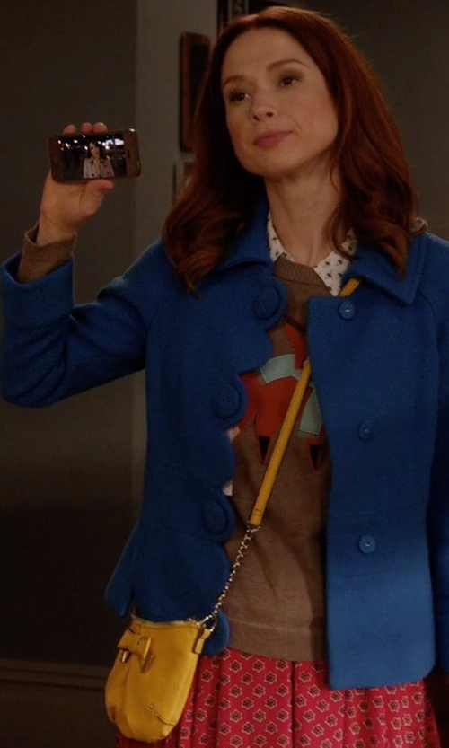 Ellie Kemper with Kenneth Cole Reaction Wooster Street Foldover Mini Cross-Body Bag in Unbreakable Kimmy Schmidt