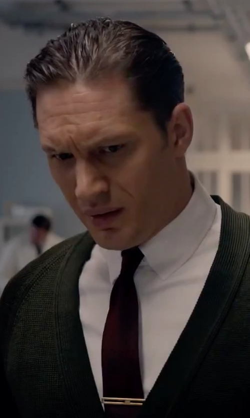 Tom Hardy with John Varvatos Star USA Solid Silk Tie in Legend