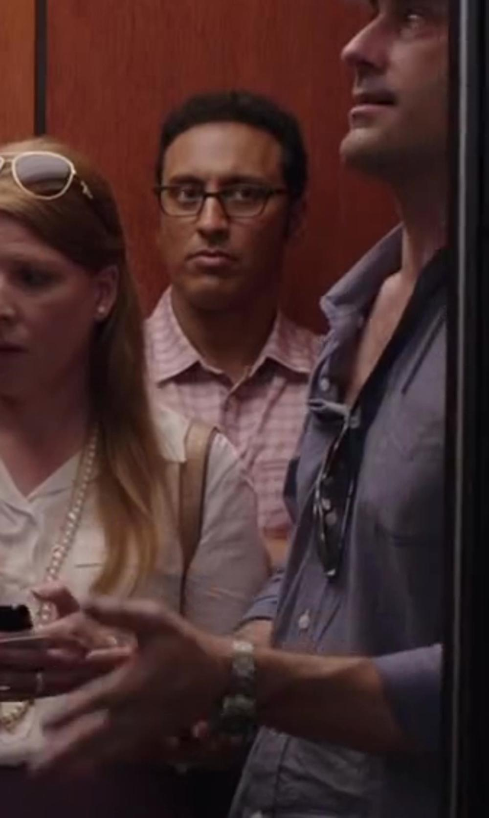Aasif Mandvi with THOMAS PINK Bell Check Shirt - Button Cuff in Million Dollar Arm
