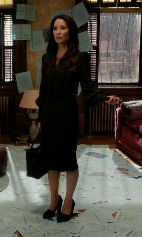 Lucy Liu with Geox D Mariele High 4 Pump Shoes in Elementary