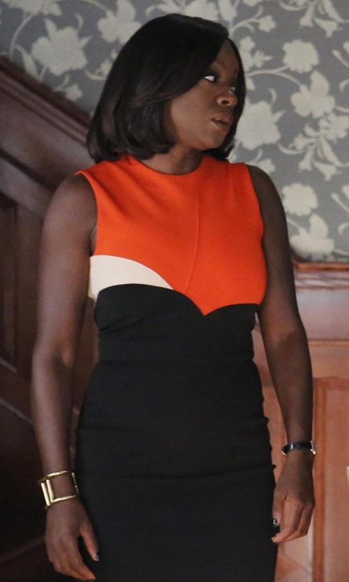 Viola Davis with Trina Turk Block Cutout Cuff Bracelet in How To Get Away With Murder