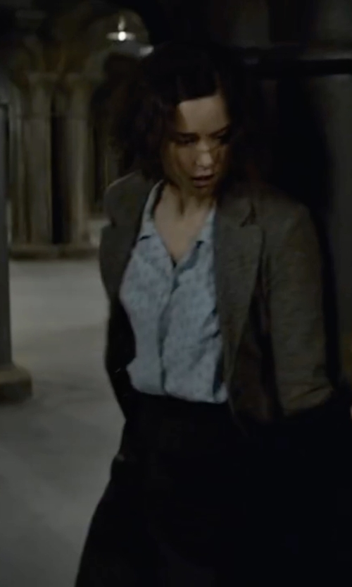 Katherine Waterston with Viyella Ditsy Print Cotton Blouse in Fantastic Beasts and Where to Find Them
