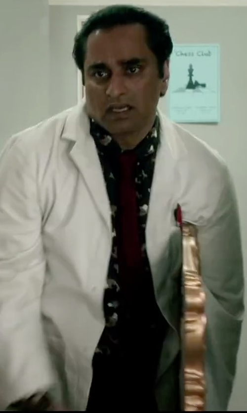 Sanjeev Bhaskar with Revolution Button-Down Shirt in Absolutely Anything