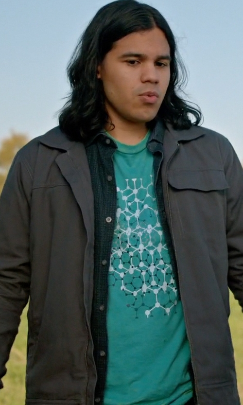 Carlos Valdes with Skreened Cancer Constellation T-Shirt in Arrow