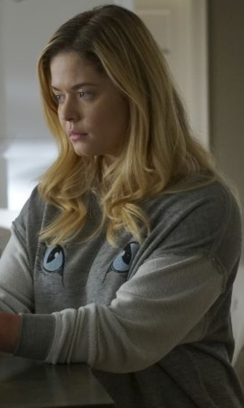 Sasha Pieterse with Wildfox Elton Weekend Sweater in Pretty Little Liars