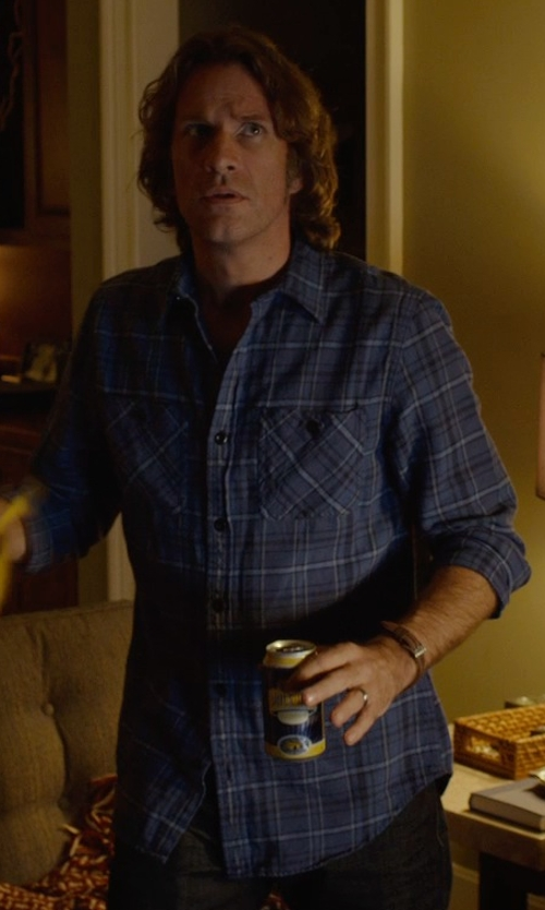 Thomas Jane with NN.07 Frede Checked Cotton Shirt in Before I Wake