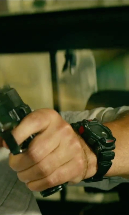 John Krasinski with Casio G-Shock Rescue G7900-1 Watch in 13 Hours: The Secret Soldiers of Benghazi
