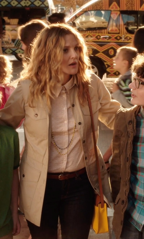 Drew Barrymore with Coach GETAWAY JACKET in Blended
