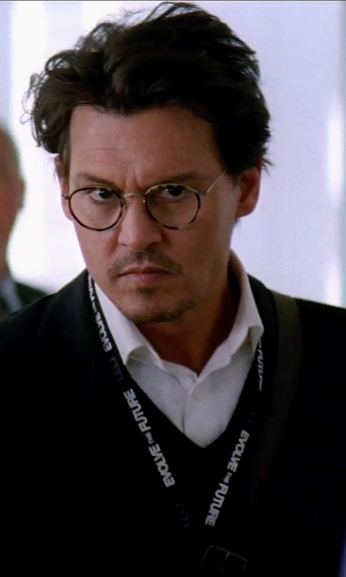 Johnny Depp with Anto Beverly Hills Custom Made Dress Shirt in Transcendence