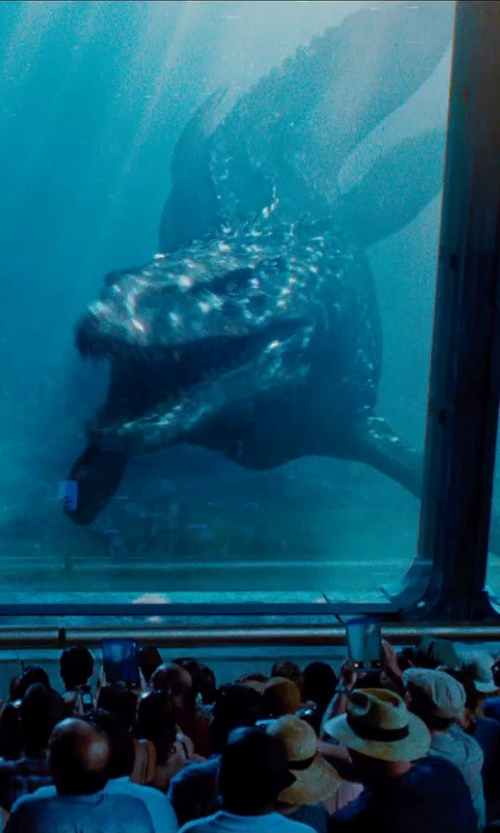 Unknown Actor with Seth Engstrom & Dean Sherriff (Concept Artist) Mosasaurus in Jurassic World