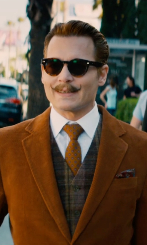 Johnny Depp with Filson Wool Vest in Mortdecai