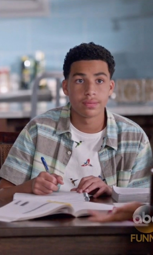 Marcus Scribner with 7 Diamonds Regular Fit Fragments Of Freedom Sportshirt in Black-ish