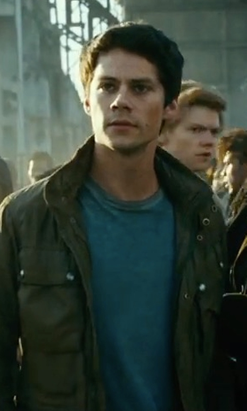 Dylan O'Brien with J. Crew Broken-In T-Shirt in Maze Runner: The Death Cure