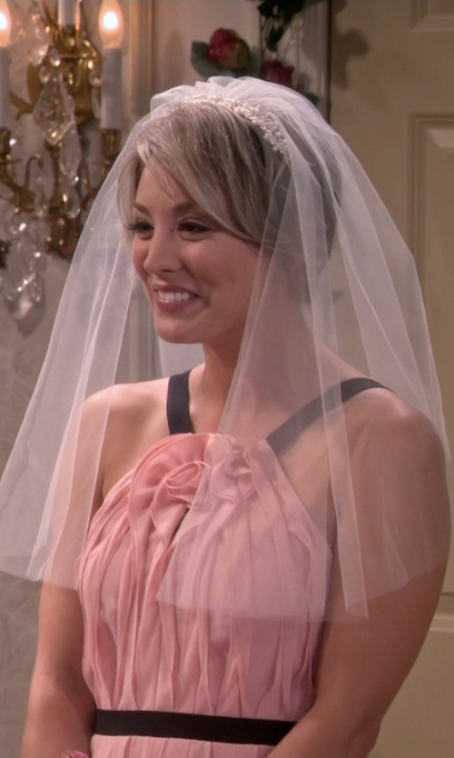 Kaley Cuoco-Sweeting with Wedding Belles New York Bead & Crystal Headband in The Big Bang Theory