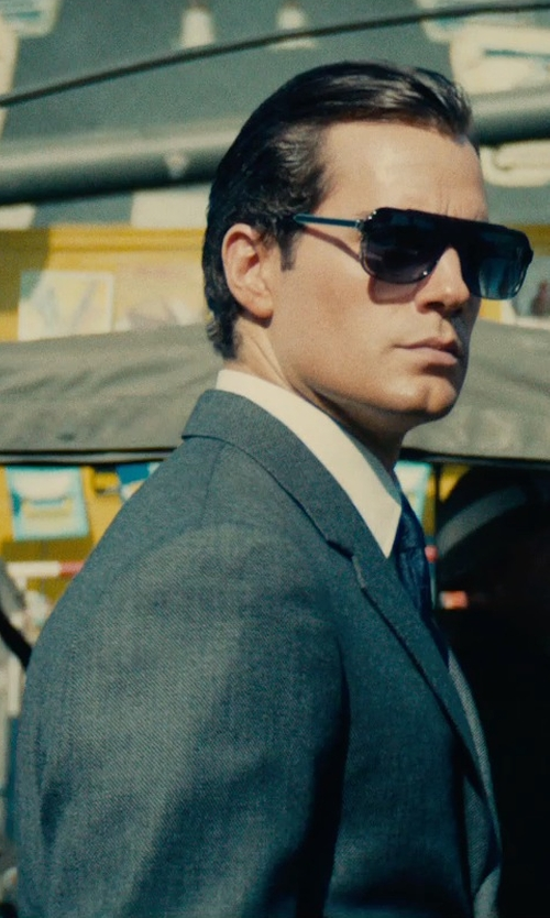 Henry Cavill with Timothy Everest Custom Made Three Piece Suit in The Man from U.N.C.L.E.