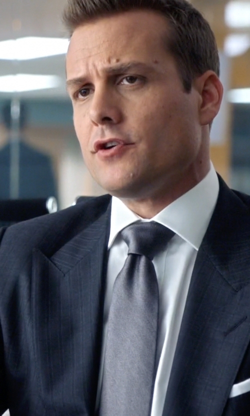 Gabriel Macht with Barneys New York Pocket Square in Suits