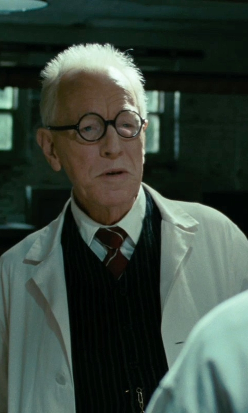 Max von Sydow with Landau Men's Full-Length Lab Coat in Shutter Island